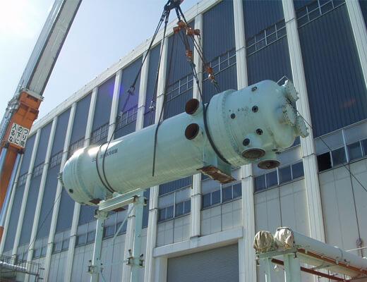 冷却水冷却器(熱交換器):撤去工事