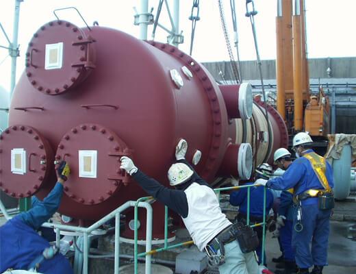 冷却水冷却器(熱交換器):据付工事